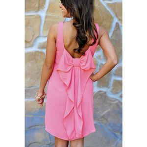 Everly Pink Bow Back Dress✨ Sz S